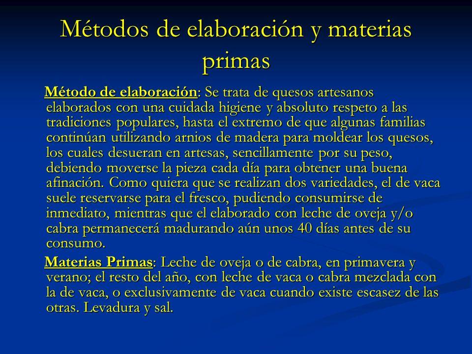 Métodos de elaboración y materias primas