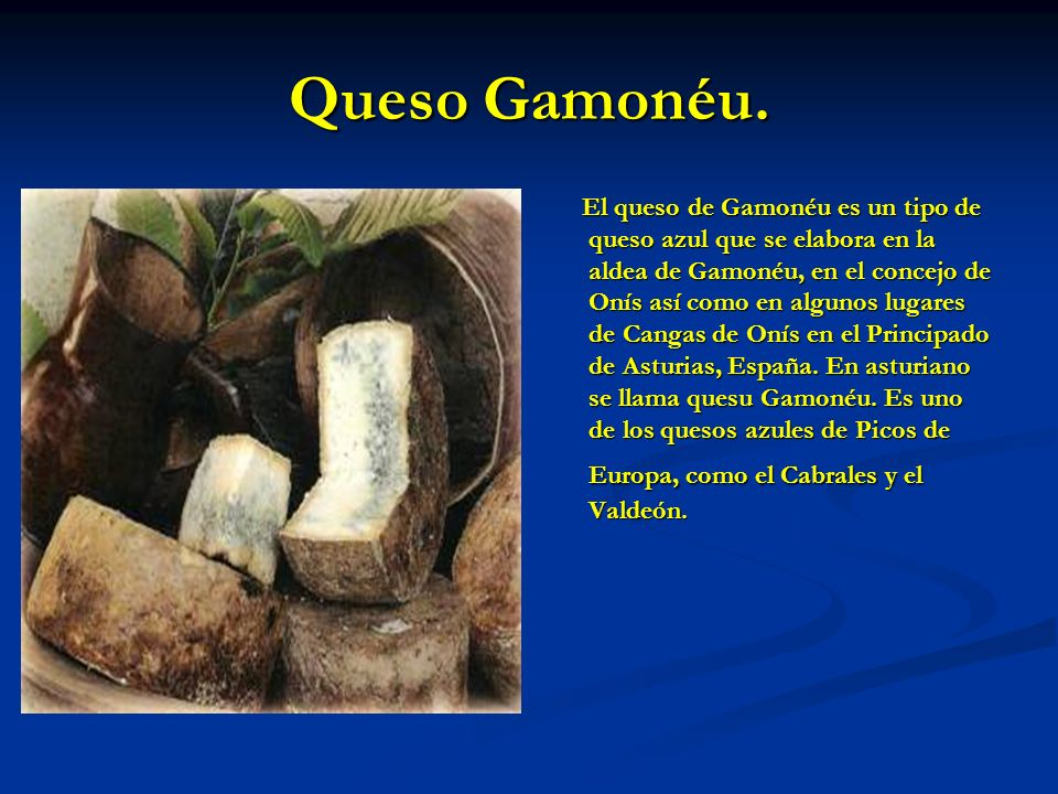 Queso Gamonéu.