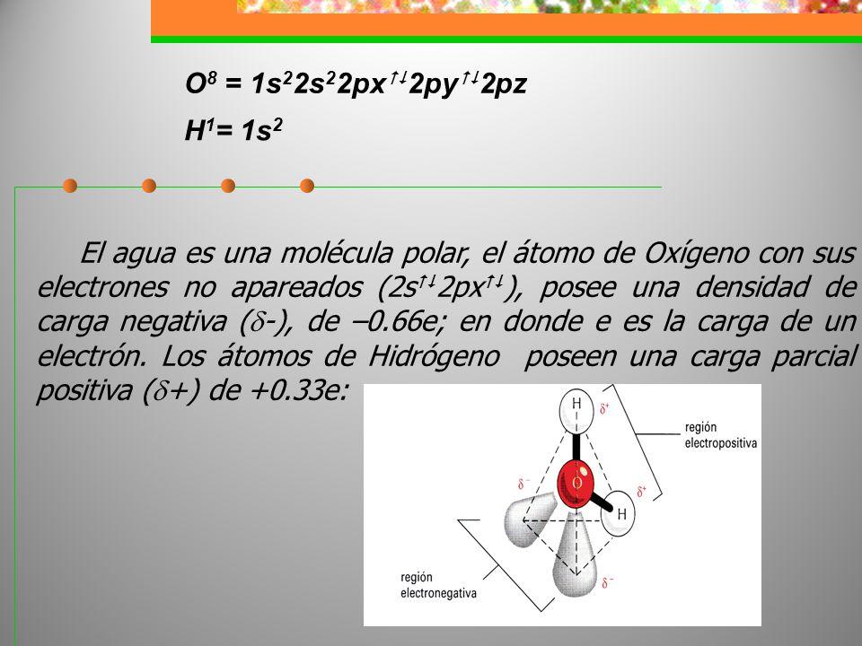 O8 = 1s22s22px2py2pz H1= 1s2.