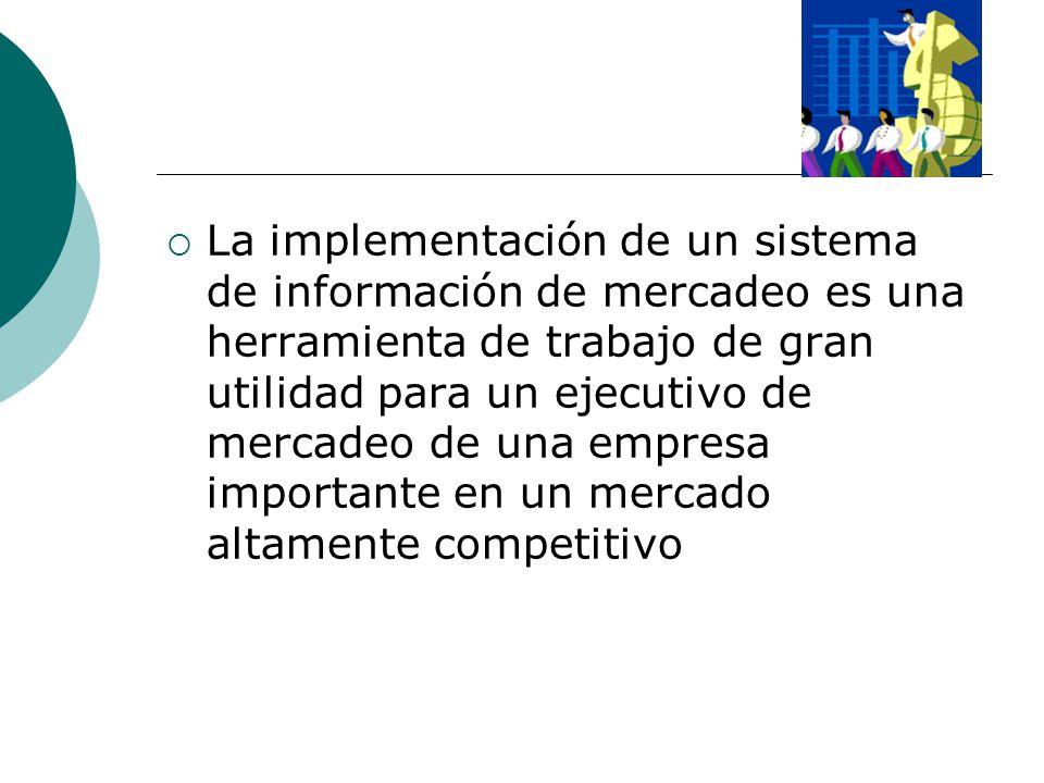 La implementación de un sistema de información de mercadeo es una herramienta de trabajo de gran utilidad para un ejecutivo de mercadeo de una empresa importante en un mercado altamente competitivo