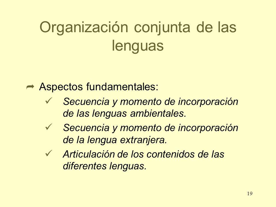 Organización conjunta de las lenguas