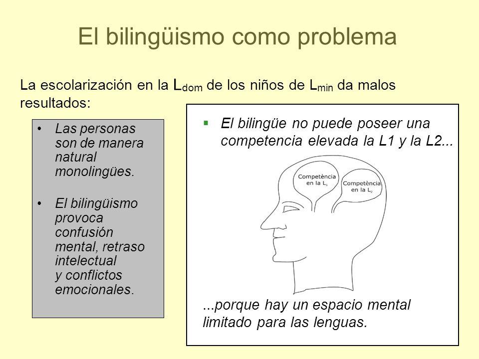 El bilingüismo como problema