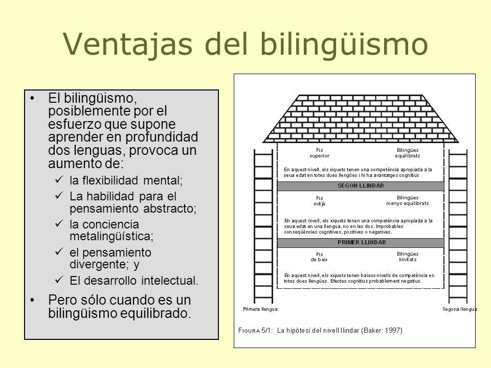 Ventajas del bilingüismo