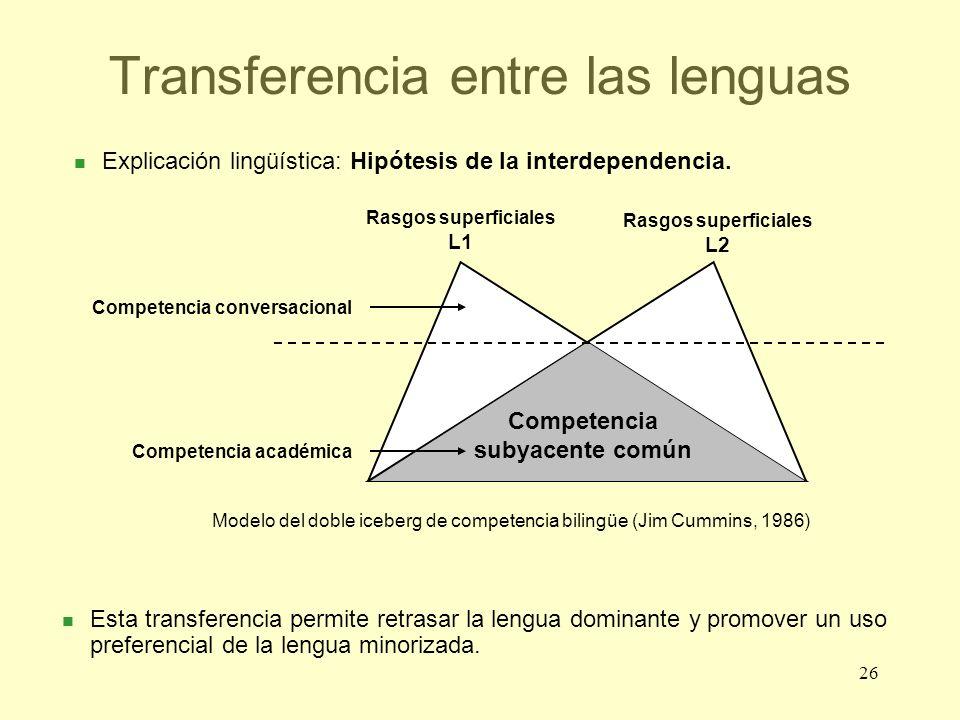 Transferencia entre las lenguas