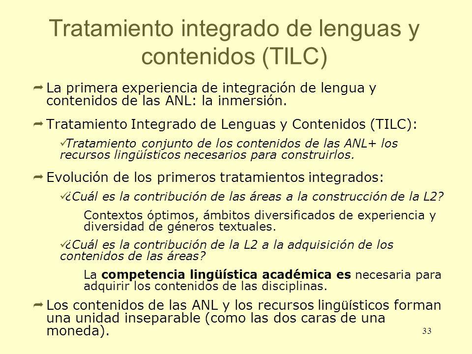 Tratamiento integrado de lenguas y contenidos (TILC)