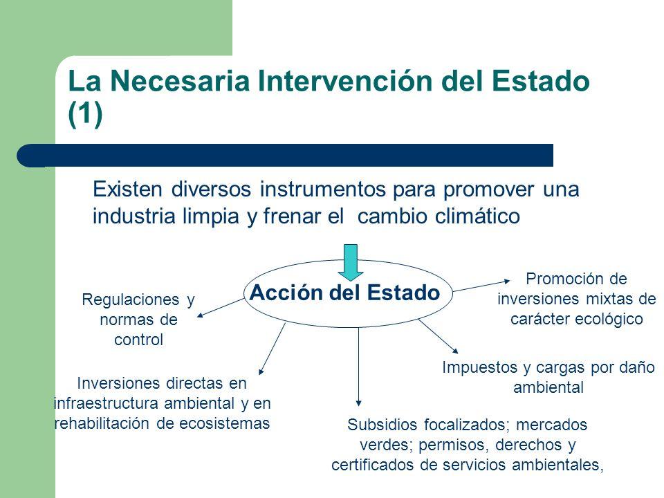 La Necesaria Intervención del Estado (1)