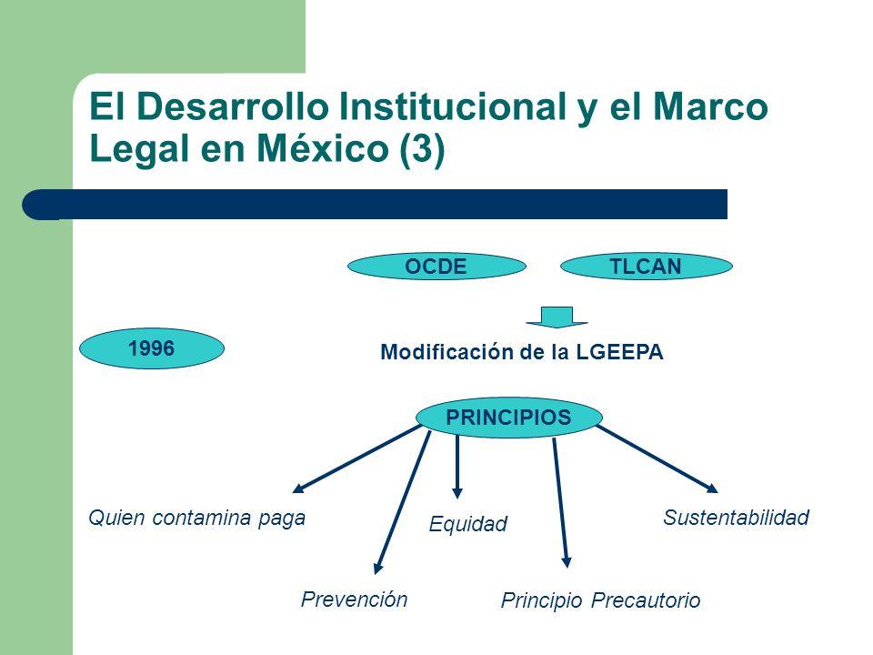 El Desarrollo Institucional y el Marco Legal en México (3)