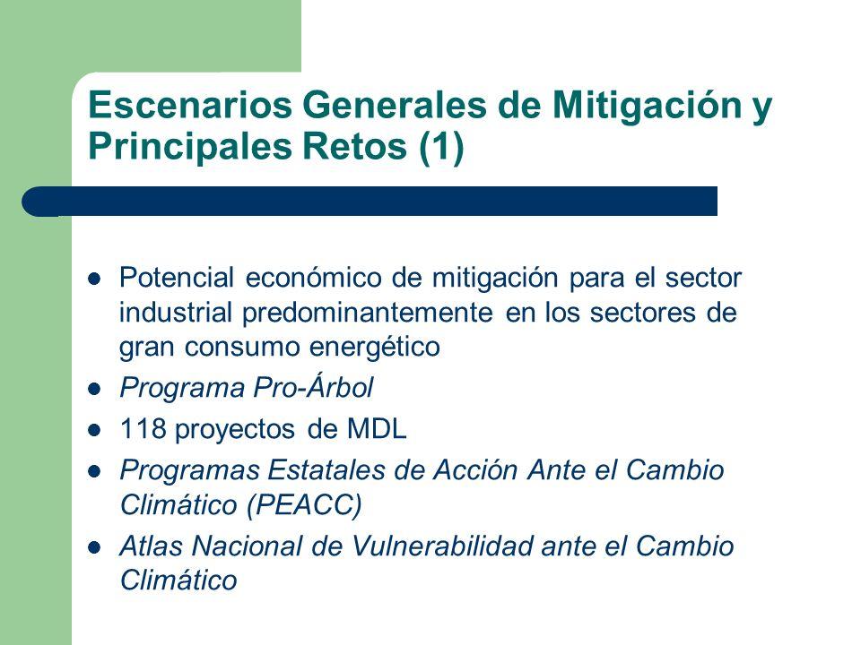 Escenarios Generales de Mitigación y Principales Retos (1)