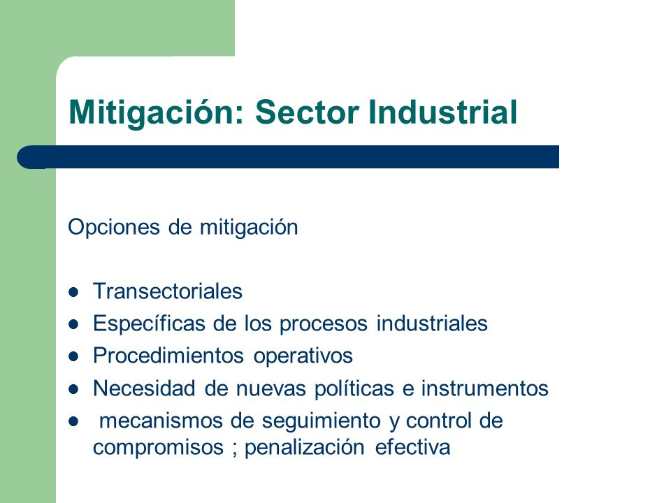 Mitigación: Sector Industrial