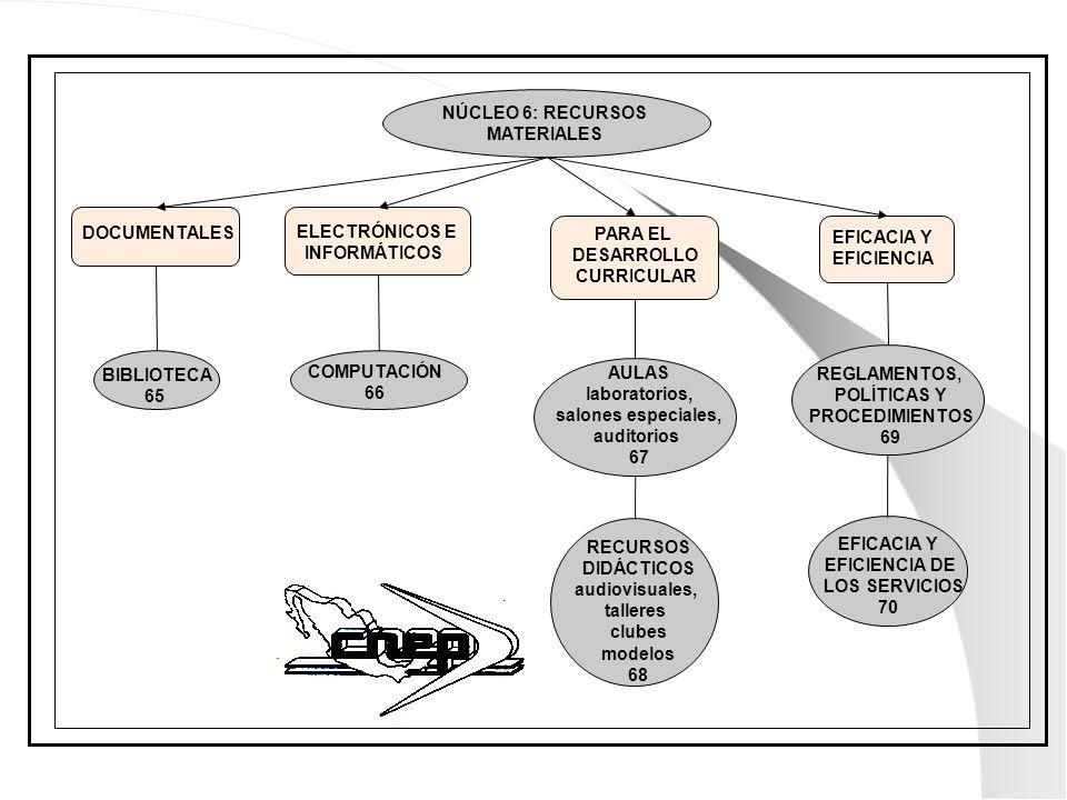 NÚCLEO 6: RECURSOS MATERIALES. DOCUMENTALES. ELECTRÓNICOS E. INFORMÁTICOS. PARA EL. DESARROLLO.