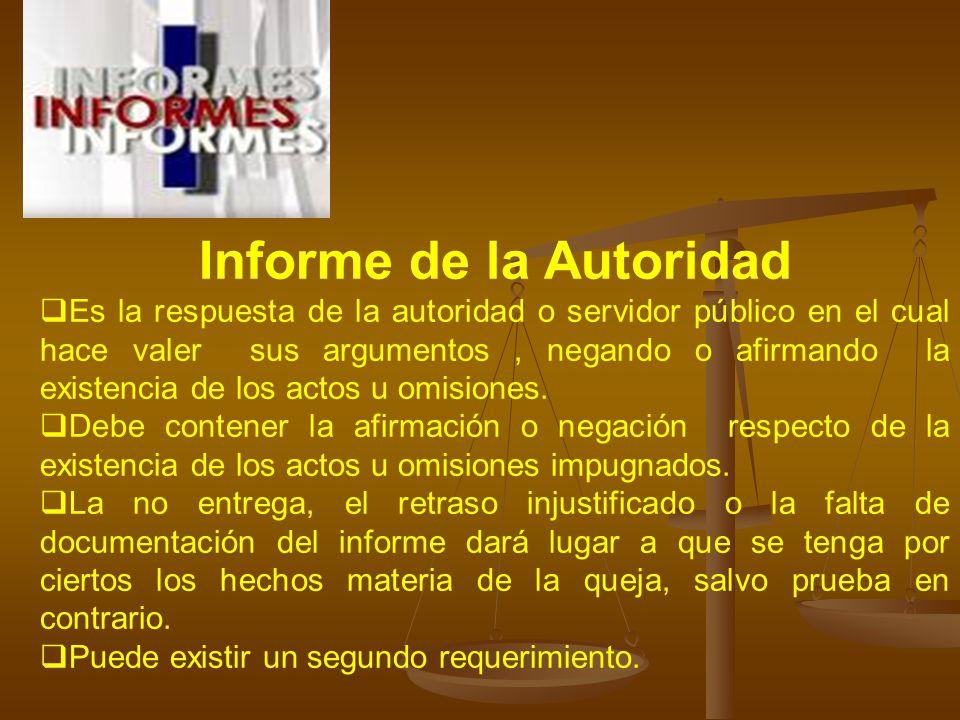 Informe de la Autoridad