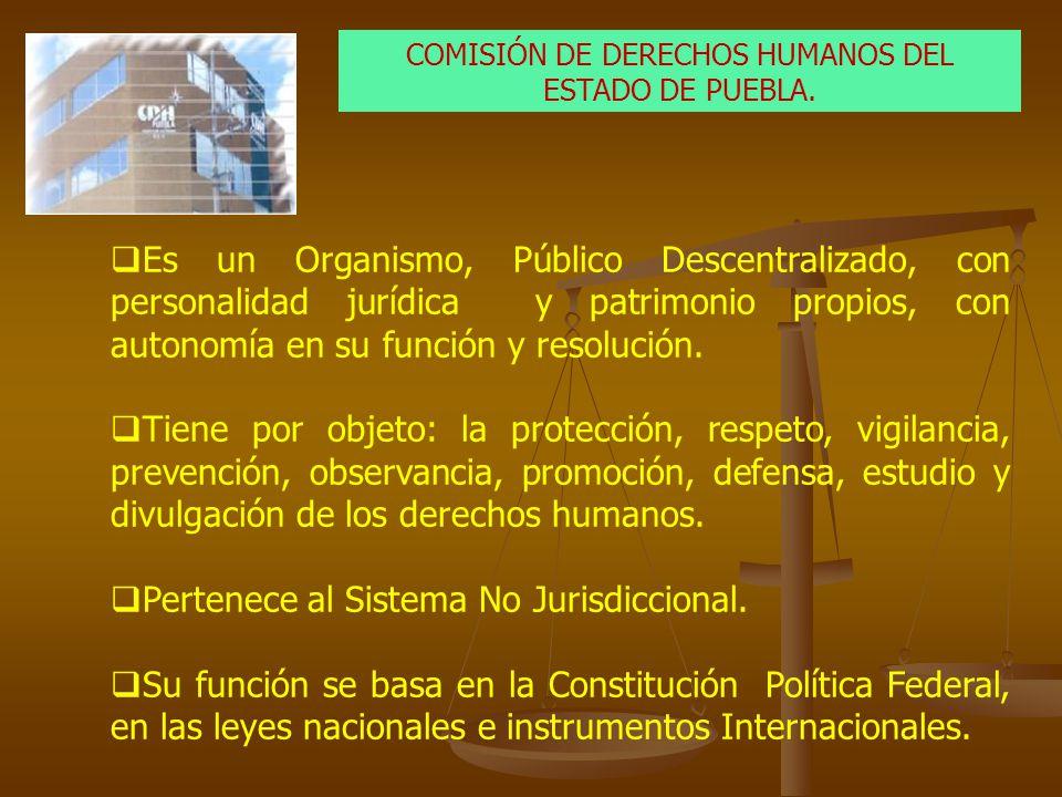 COMISIÓN DE DERECHOS HUMANOS DEL ESTADO DE PUEBLA.