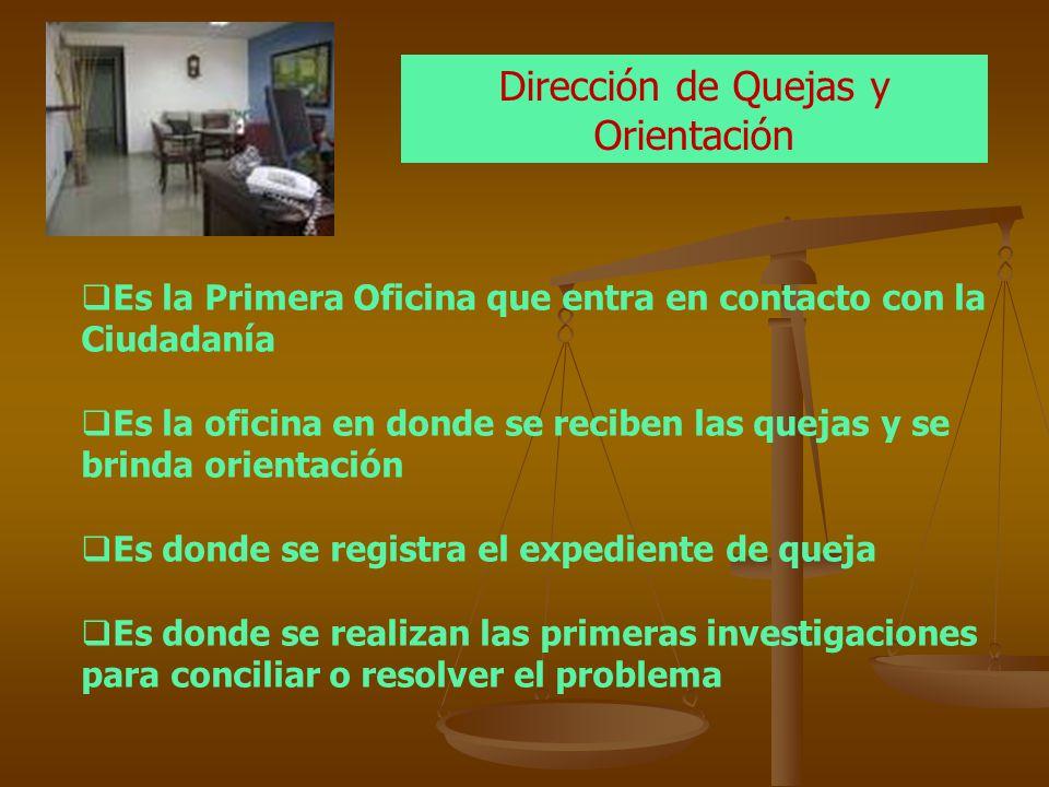 Dirección de Quejas y Orientación