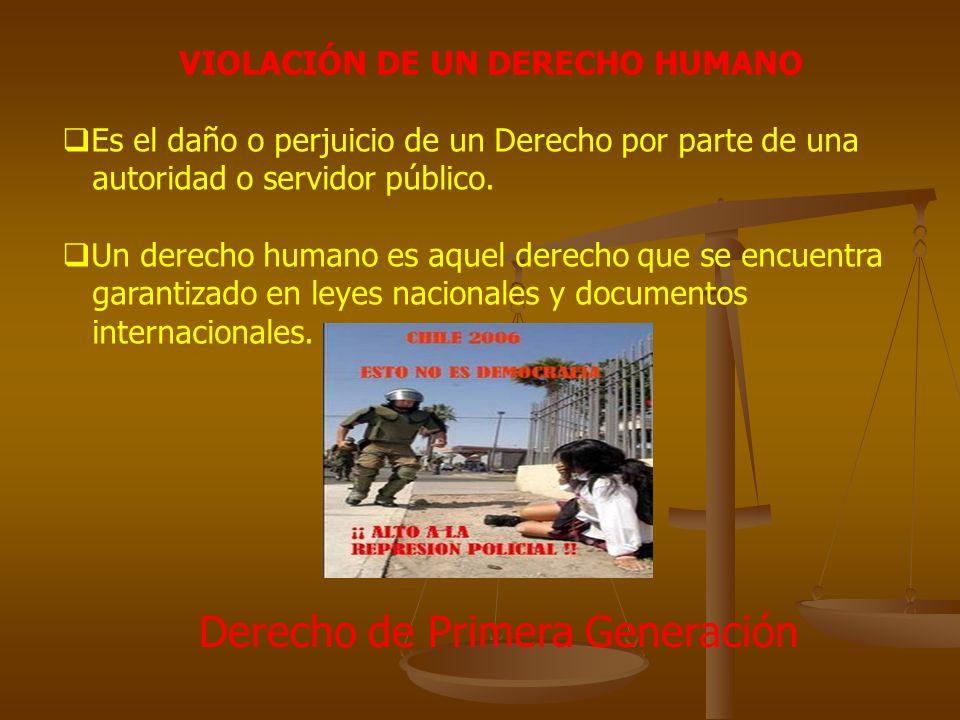 VIOLACIÓN DE UN DERECHO HUMANO
