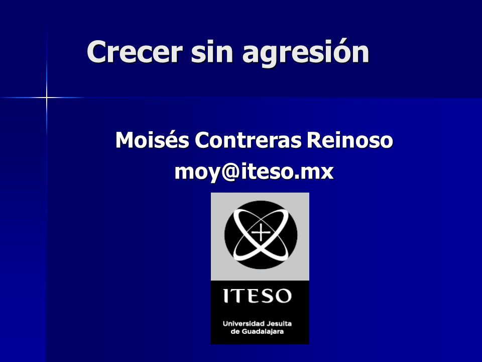 Moisés Contreras Reinoso moy@iteso.mx