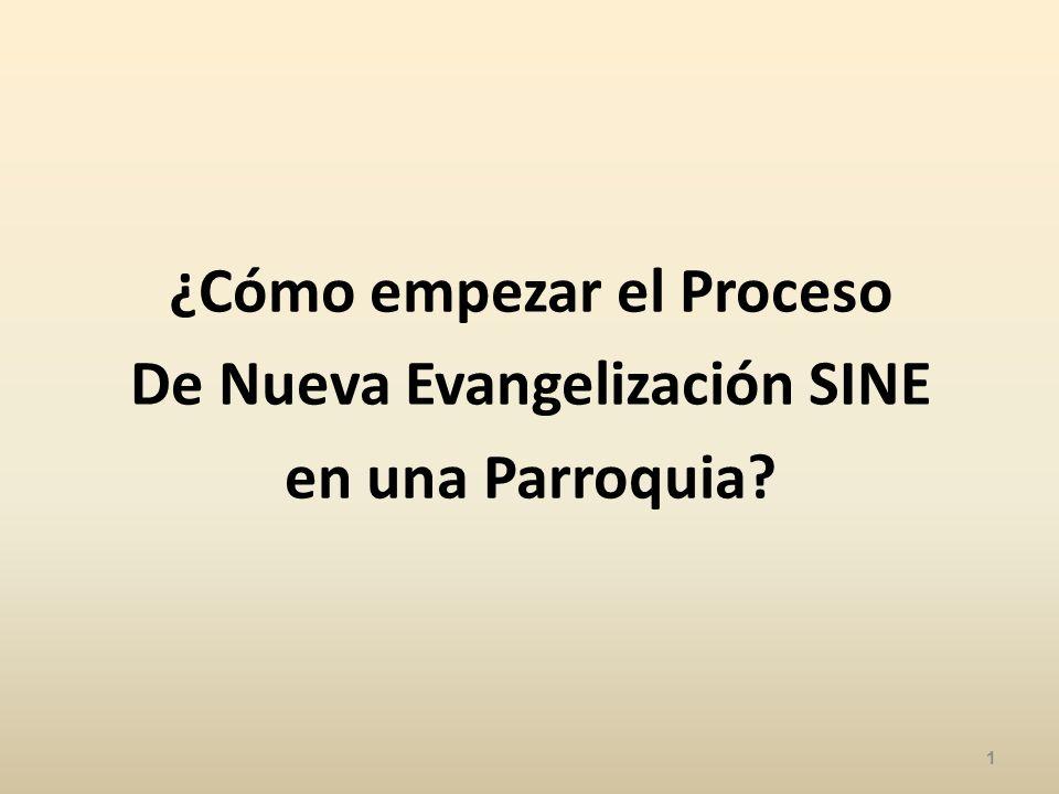 ¿Cómo empezar el Proceso De Nueva Evangelización SINE