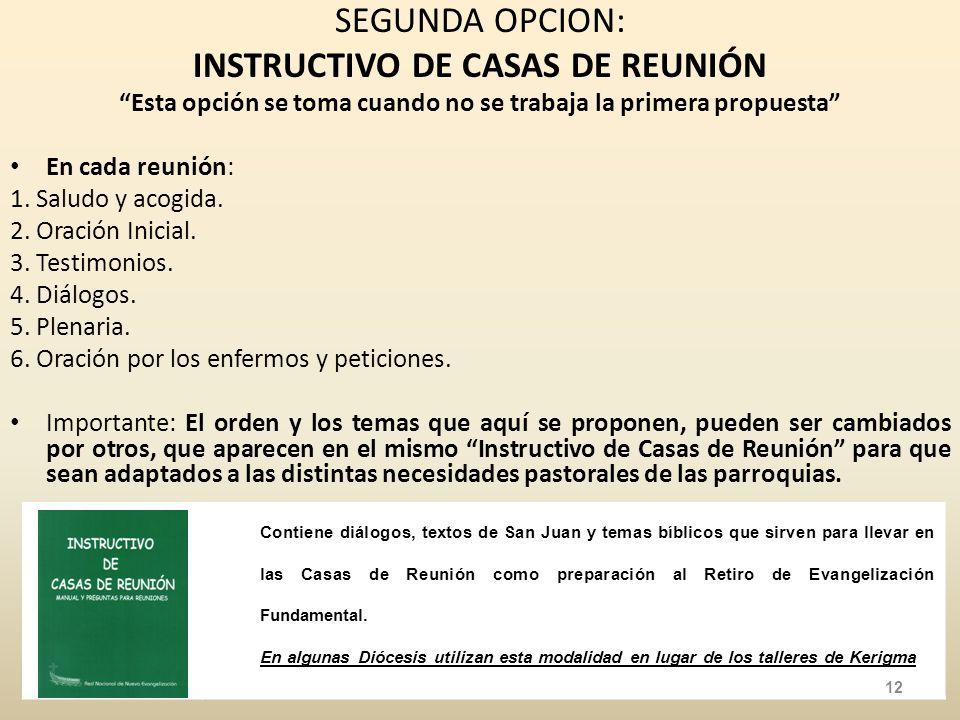 INSTRUCTIVO DE CASAS DE REUNIÓN