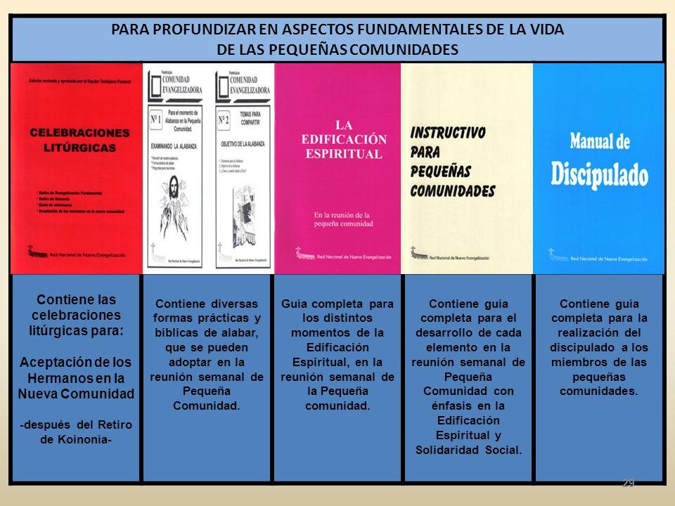 PARA PROFUNDIZAR EN ASPECTOS FUNDAMENTALES DE LA VIDA