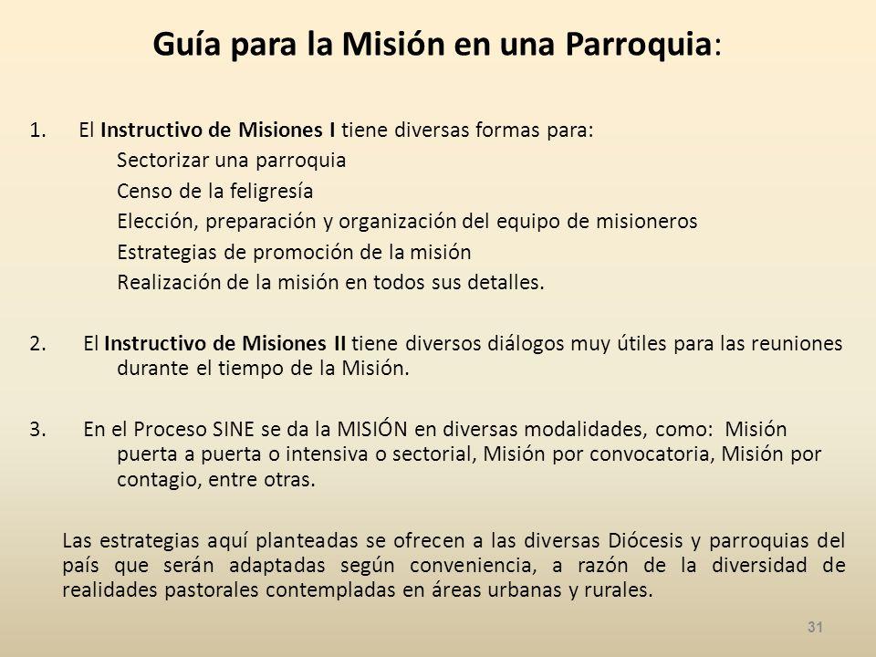 Guía para la Misión en una Parroquia: