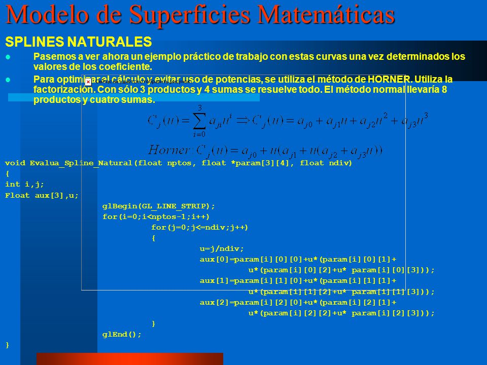Modelo de Superficies Matemáticas