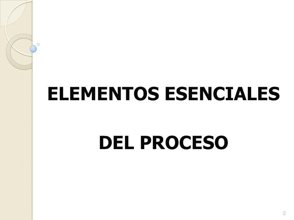 ELEMENTOS ESENCIALES DEL PROCESO