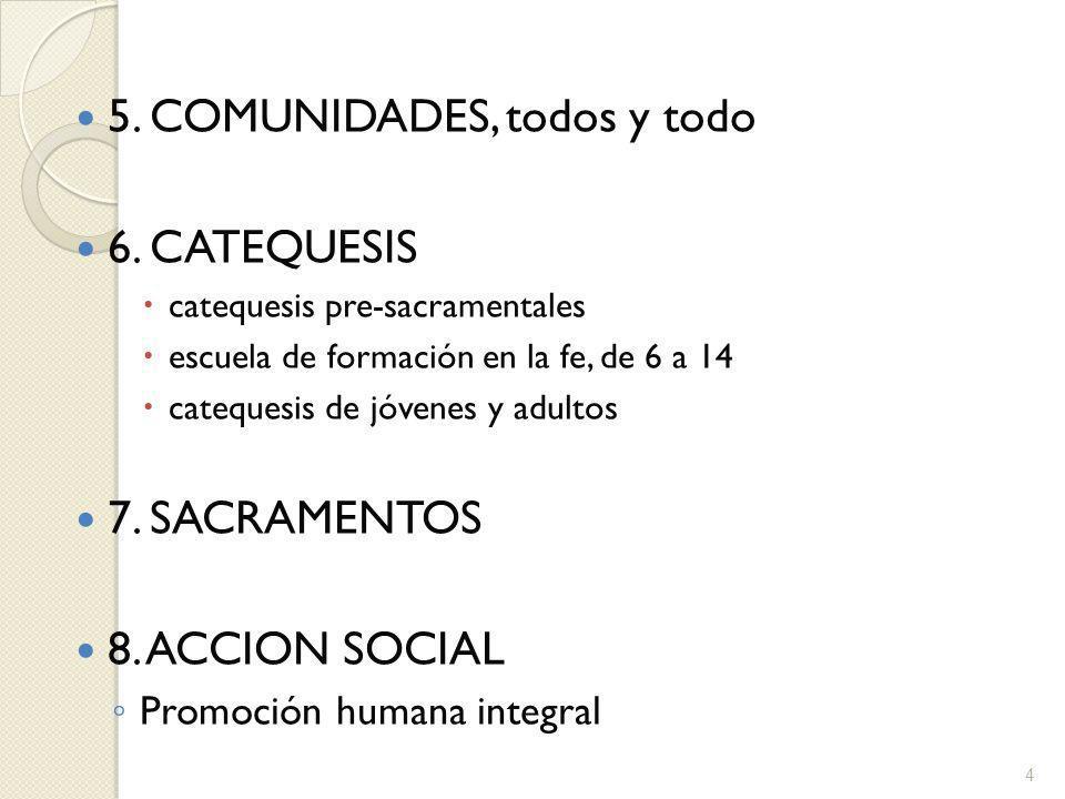 5. COMUNIDADES, todos y todo 6. CATEQUESIS