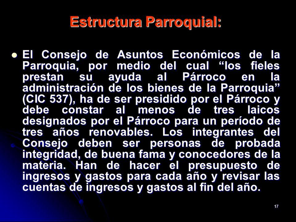 Estructura Parroquial: