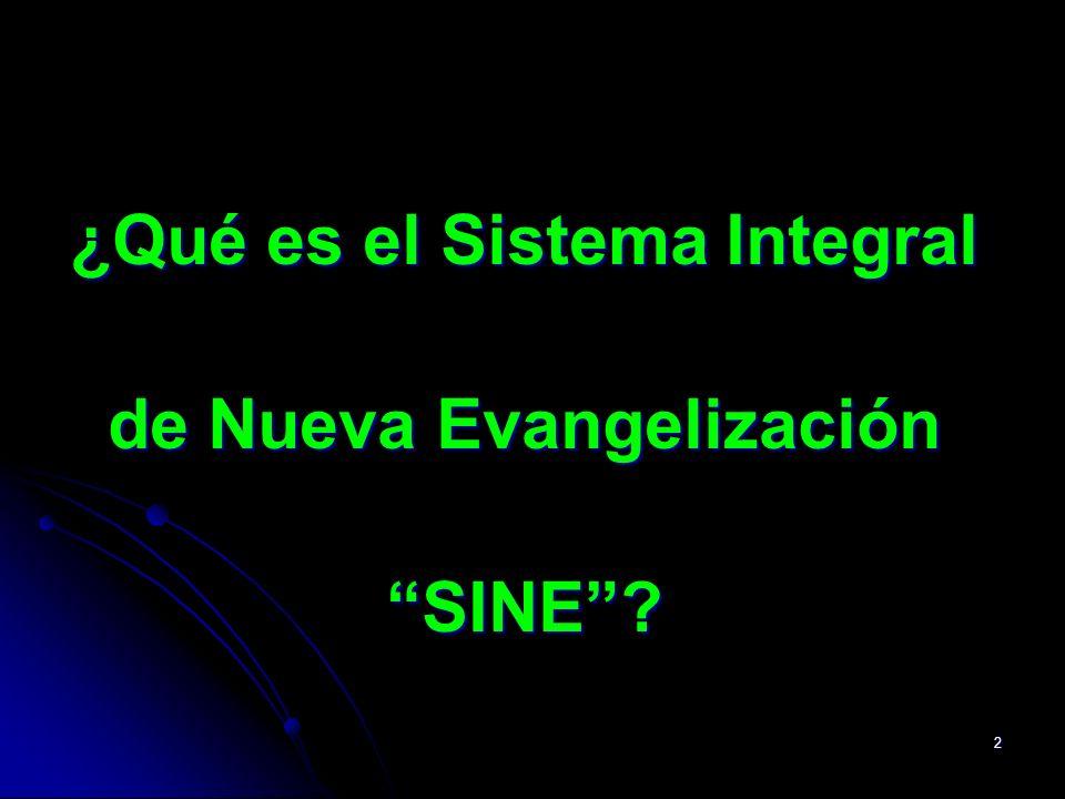 ¿Qué es el Sistema Integral de Nueva Evangelización