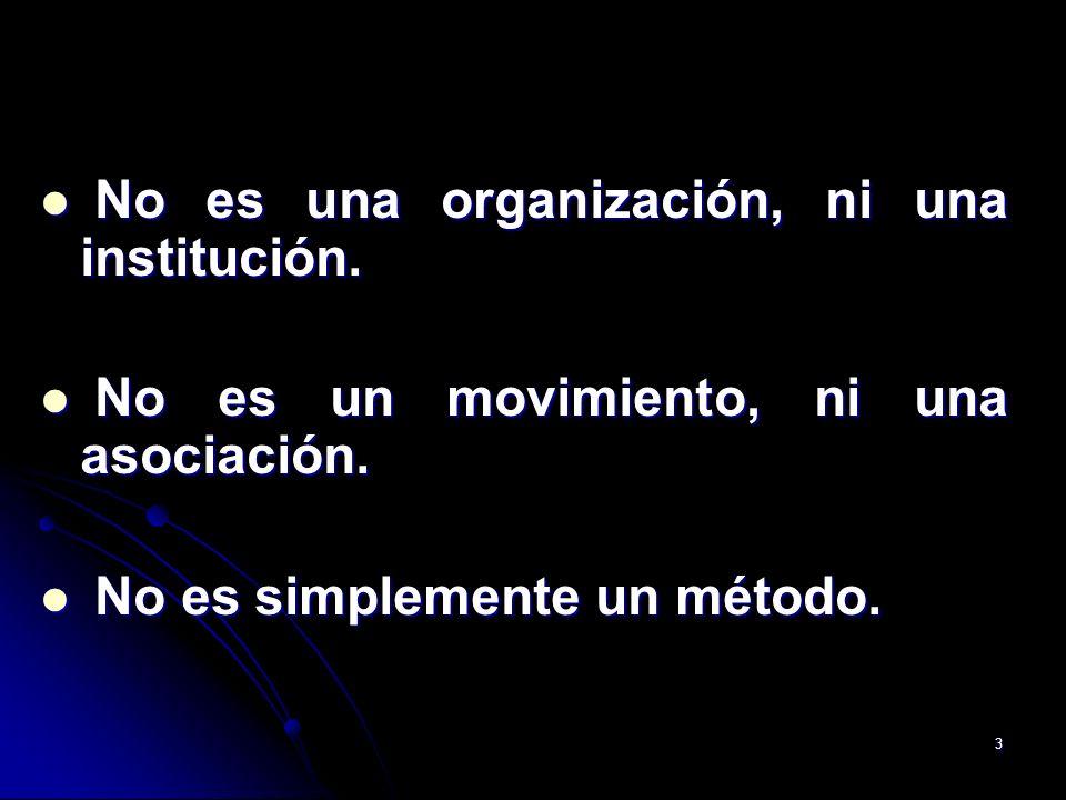 No es una organización, ni una institución.