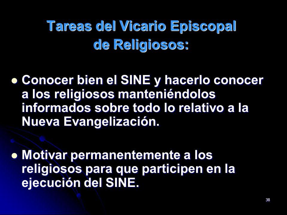Tareas del Vicario Episcopal
