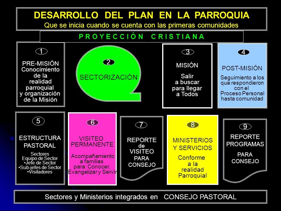 DESARROLLO DEL PLAN EN LA PARROQUIA