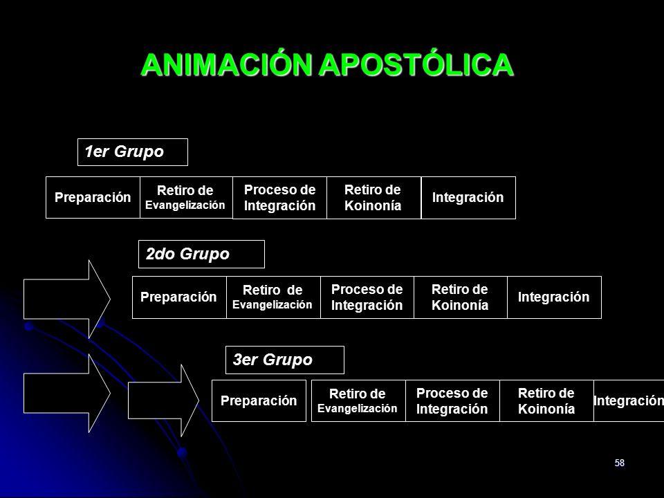 ANIMACIÓN APOSTÓLICA 1er Grupo 2do Grupo 3er Grupo Preparación
