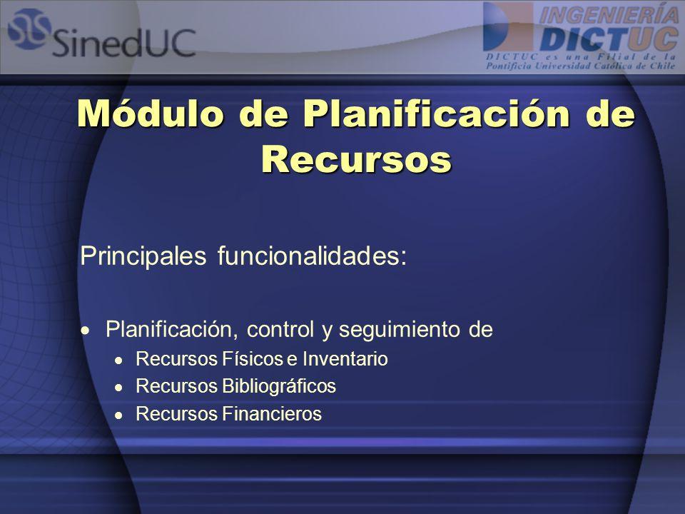 Módulo de Planificación de Recursos