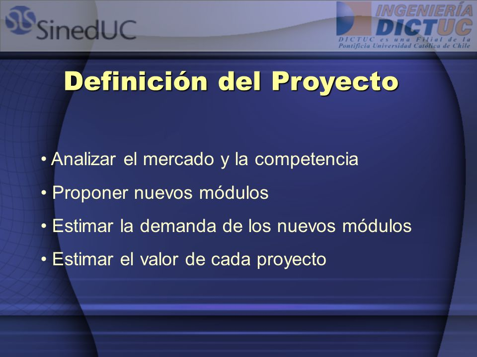 Definición del Proyecto