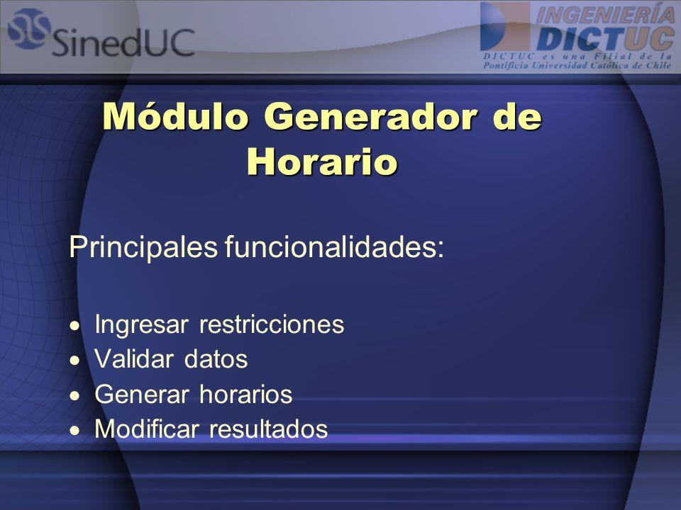 Módulo Generador de Horario