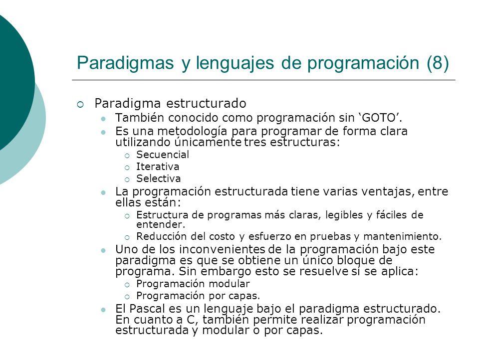 Paradigmas y lenguajes de programación (8)