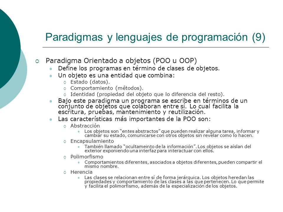 Paradigmas y lenguajes de programación (9)