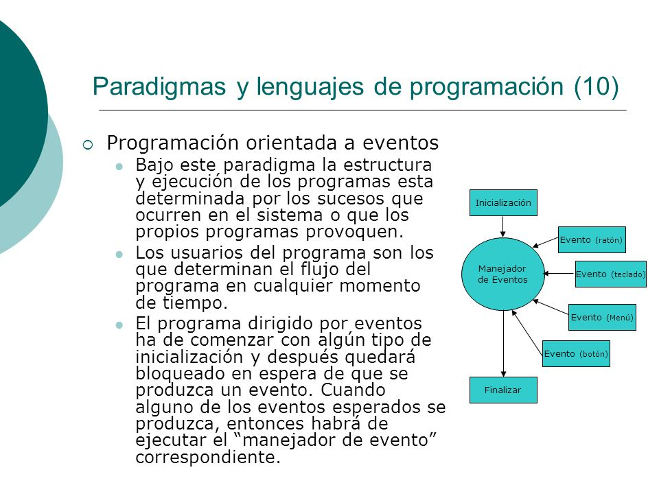 Paradigmas y lenguajes de programación (10)