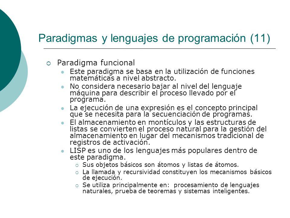 Paradigmas y lenguajes de programación (11)