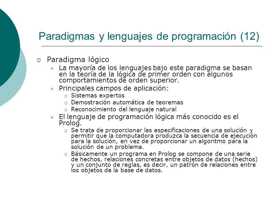 Paradigmas y lenguajes de programación (12)
