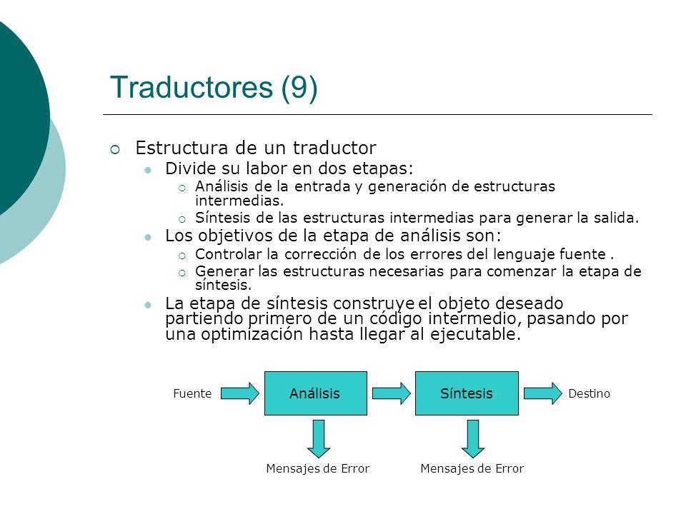 Traductores (9) Estructura de un traductor