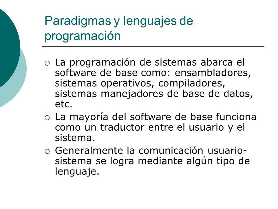 Paradigmas y lenguajes de programación