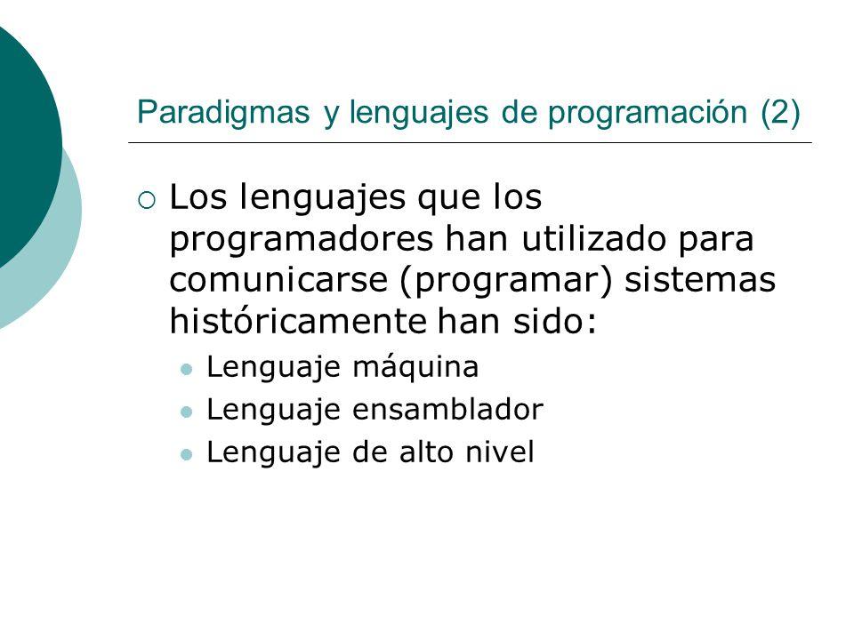 Paradigmas y lenguajes de programación (2)