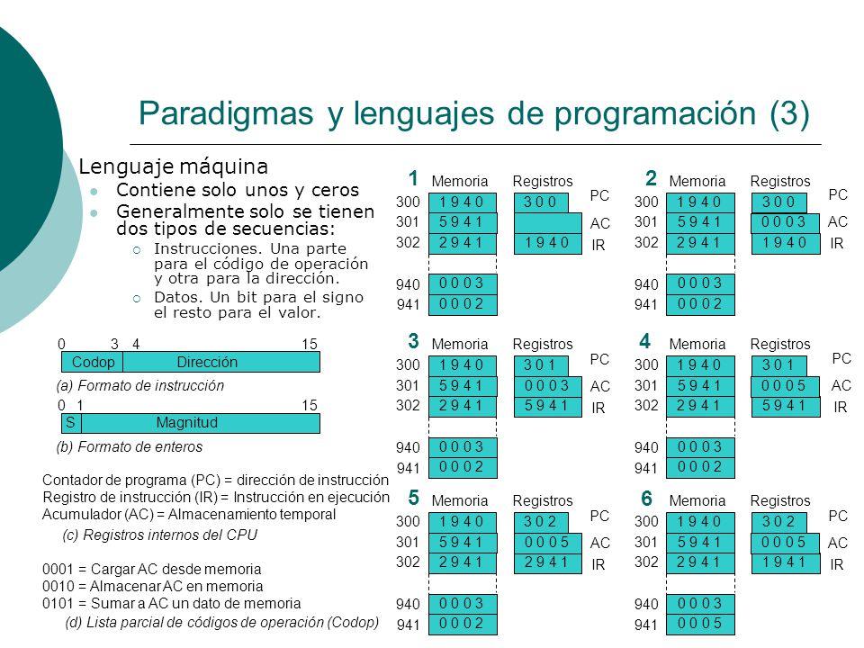 Paradigmas y lenguajes de programación (3)