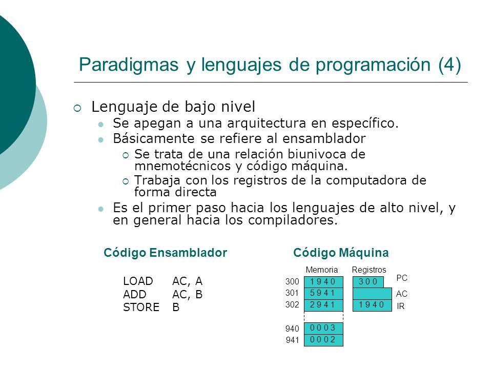Paradigmas y lenguajes de programación (4)