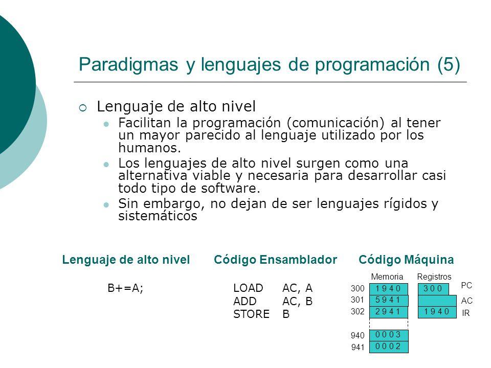Paradigmas y lenguajes de programación (5)