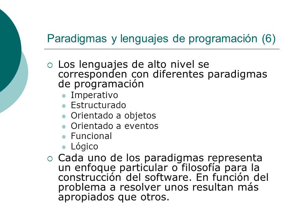 Paradigmas y lenguajes de programación (6)