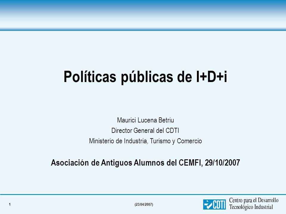 Políticas públicas de I+D+i