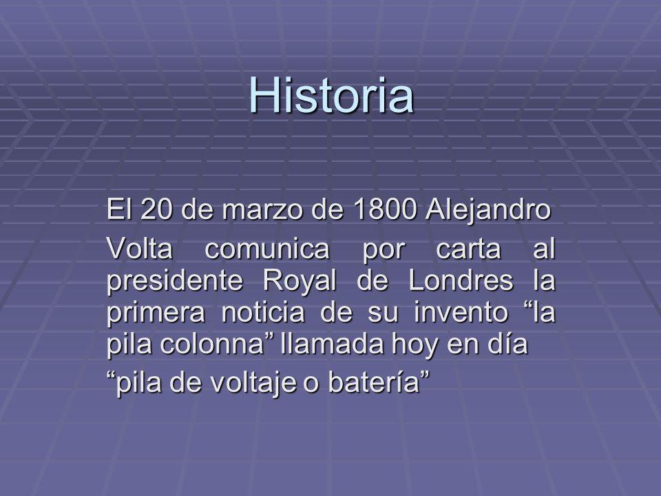 Historia El 20 de marzo de 1800 Alejandro