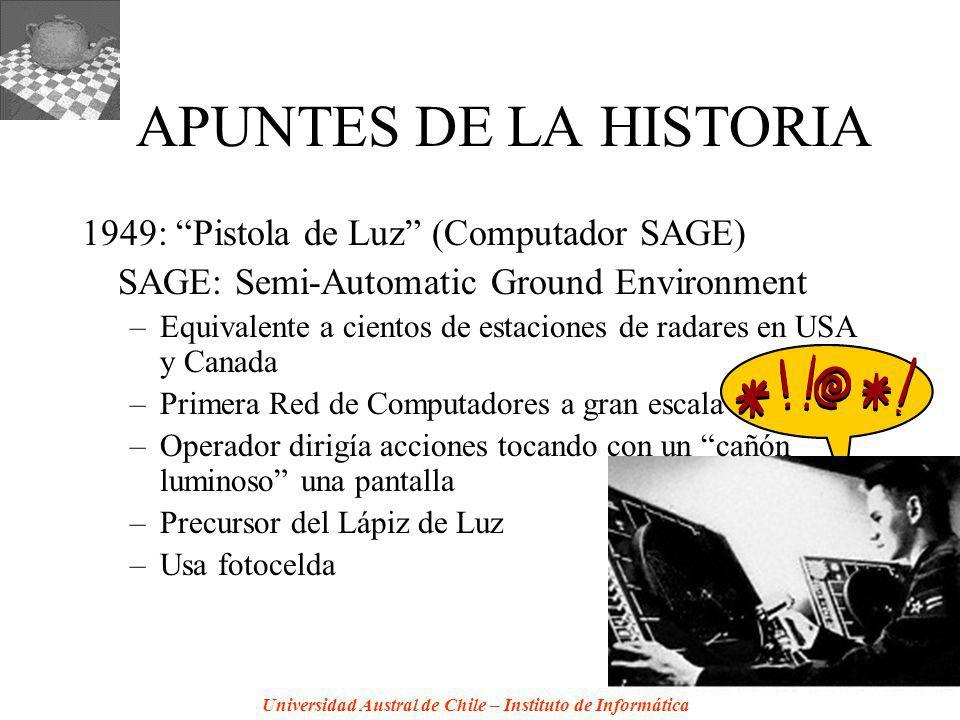 APUNTES DE LA HISTORIA 1949: Pistola de Luz (Computador SAGE)